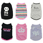 US Cat Kitten Dog Puppy Cute Shirts Vest Clothes Coat Pet Apparel Costume XS-L