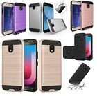 lot 5 Armor Brushed Shockproof Protector Case samsung galaxy j3 (2018) j7 (2018)