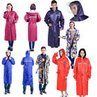 Mens Oxford Raincoats Hooded Jackets Women Waterproof Long Trench Outdoor Hiking $41.25 AUD on eBay