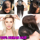 Mono Silk Base Straight Clip in 100% Human Hair Topper Piece  Flat Bangs Fringe