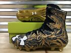 Under Armour Highlight LUX MC Football Cleats Notre Dame Navy Gold 1297953 420