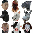 Deluxe Halloween Party Head Animal Human Realistic Latex Mask Carnival Costume