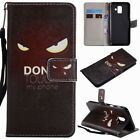 Pu Leather Wallet Case Flip Cover Stand Card Slot For Cell Phones Fierce Eyes