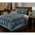 Provence 3 Break down Velvet Plush Printed Comforter Set by Fraiche Maison