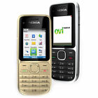 New Nokia C Series C2-01 Black Gold Unlocked English Hebrew Keyboard Bar Phone
