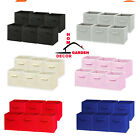6 Pack Foldable Storage Cubes Collapsible Fabric Bins Shelf Organizer Basket Box
