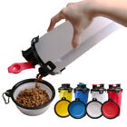 1 Set Safe Outdoor Pet Bottle with 2 Bowls Portable Feeder for Cat Pet Dog Puppy