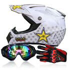 motorcycle helmets goggles - Safety DOT Motorcycle Off Road Helmets +Goggles+Gloves Motocross Racing ATV FS