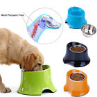 Super Design Elevated Dog Bowl Raised Pet Feeder for Food Water Stainless Steel