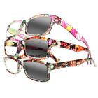 Multi-Color Women Floral Sunglasses Photochromic Transition Reading Glasses New