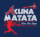 Acuna Matata shirt ATL Atlanta Braves baseball Ronald Hakuna Lion King Jr 13 on Ebay