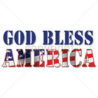 God Bless America USA United States Freedom Flag Patriotic T-Shirt Tee image