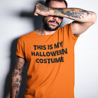 This is my Halloween Costume Funny  T Shirt Mens Womens Kids Black NEON H15