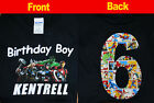 Внешний вид - Avengers Birthday Shirt, Name in FRONT, Number in the BACK