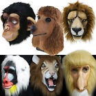 Novelty Monkey Lion Dog Latex Mask Halloween Realistic Animal Mask Fancy Costume