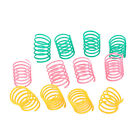20pc Pet Dog Colorful Wide Heavy Gauge Plastic Springs Cat Toy Playing Toys Gift