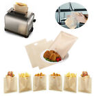 1-20pcs Reusable Toaster Bread Sandwich Bag PTFE Coated Microwave Heating Leap