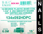 Construction Nails Strip Band Coil Ring Full Head Sealed box Hot Dip Galvanized