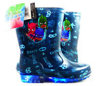 PJ MASKS FLASHING RAIN BOOTS FOR CHILDREN LEDs IN SOLE WELLIES PJ MASKS OFFICIAL