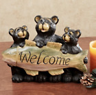 Bear Welcome Table Sculpture Black