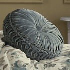 Adrianna Tufted Pillow Teal Round image