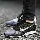 Mens Nike Flyknit Racer Running Oreo Sneakers New Black White Volt 526628 011