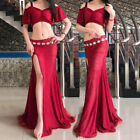 Women Lace Belly Dance Costumes Strap Off Shoulder Top&Long Skirt Sexy New 2018