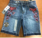Girls Vigoss Bermuda Malibu Stretch Denim Shorts Short, Pick Color & Size, NWT