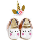 Baby Girls Shoes First Walkers moccasins Toddler Shoes+ Unicorn baby Headband