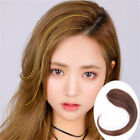 Front Middle Side Bangs Clip in Human Hair Extensions One Piece Air Fringe Brown