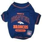 Denver Broncos NFL Licensed Pets First Dog Tee Blue, Sizes XS-XL $17.95 USD on eBay