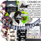 Fortnite Banner Bracelets Party Favors Supplies Decoration Cake Balloon Toppers