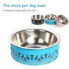 Cute Pet Dog Stainless Steel Bowl Non Slip Puppy Feeding Drinking Fountain Bowls