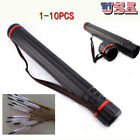 1-10PCS Adjustable Arrow Quiver Shoulder Tube Archery Case Back Quiver +Strap US