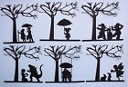 1 FANTASY FAIRY MONSTER GNOMES CHILDREN UNDER A TREE MYTHICAL DIE CUTS