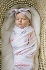 Newborn Blanket Headband Set Baby Boy Girl Swaddle Cotton Sleeping Bag Wrap Deer