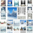 Christms Xmas Forest Ice Snow Photography Backdrop Studio Photo Background Prop