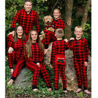 Family Matching Christmas Pajamas Women Kids Santa Sleepwear Nightwear Jumpsuit