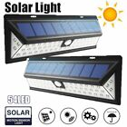 54 LED Solar Panel Power Motion Sensor Lamp Light Outdoor Security Wall Lamp