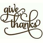 Give Thanks Primitive Country Rustic Vinyl Design Wall Art Sticker Decal Home
