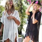 Shermie Sexy Crochet beach V Neck Cover Up Split Swimwear Su