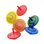 Kids Toy Cute Wooden Painted Flowers Spinning Top Children's Educational Toys HO