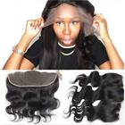Pre Plucked Body Wave 13x 6inch Full Lace Frontal Closure Bleach knots