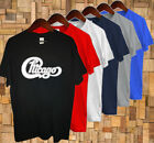 New CHICAGO Logo Band Classic Concert Tour Men's Black T-Shirt image