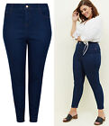 New Look Womens Curves High Waist Skinny Jeans in Blue Plus Size 18 to 32