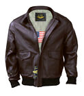 Men&#039;s A-2 Air Force Flight Bomber Genuine Leather Jacket ( SAME DAY SHIPPING ) <br/> 100% Genuine Premium Quality Leather (Quilted Lining)