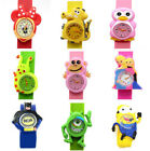Cute Cartoon Animal Slap Snap On Silicone Watches Boys Girls Child Kids Children image