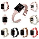 Genuine Luxury Leather Wristbands Strap Band for Apple Watch Series 4/3/2/1 Rose
