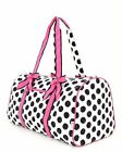Belvah assorted colors quilted monogramable polka dot duffel
