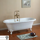 Randolph Morris 66 In Cast Iron Double Ended Clawfoot Tub - Rim Faucet Drillings